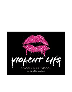 Image 2 of Violent Lips Temporary Lip Tattoos - Glitter