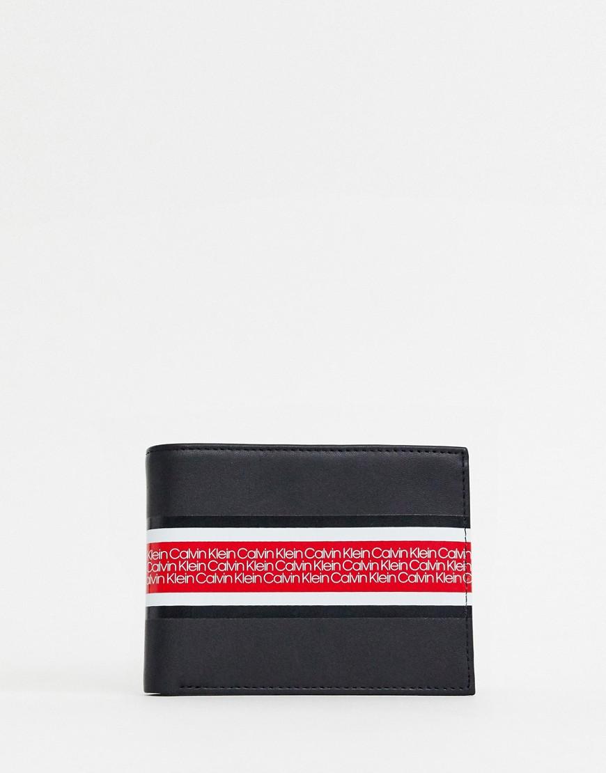 Calvin Klein - Brieftasche mit Logoband   Accessoires > Portemonnaies > Brieftaschen   Schwarz   Calvin Klein