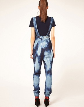 Image 2 ofDanielle Scutt Overalls In Cloud Wash Denim