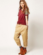 Maison Scotch Chino with Drop Crotch