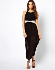 TFNC Maxi Dress with Embellished Waist