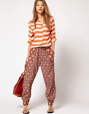 Maison Scotch Trousers in Mixed Print
