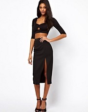 Love Midi Skirt with Thigh Split