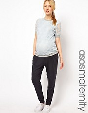 ASOS Maternity Peg Pant In Gray Marl