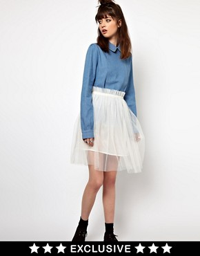 Image 1 ofThe WhitePepper Tulle Skirt