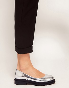 Image 3 ofASOS MERRY Leather Flat Shoes