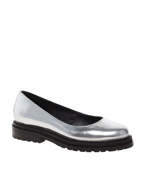 Image 1 ofASOS MERRY Leather Flat Shoes