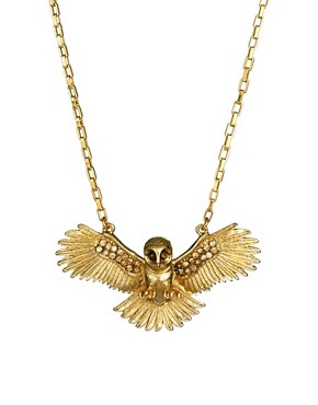 Image 1 ofWildfox Owl Necklace