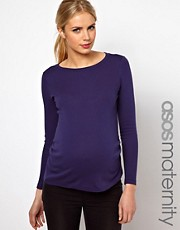 ASOS Maternity Crew Neck Top With Long Sleeves