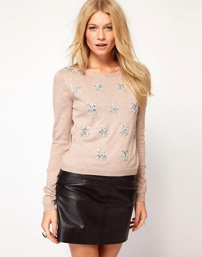 Image 1 ofOasis Oversized Jewel Jumper