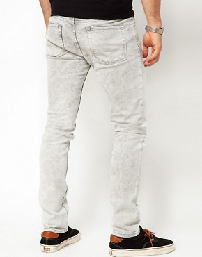 Image 2 ofASOS Skinny Jeans In Grey Acid Wash