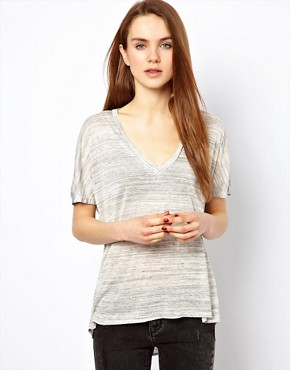 Image 1 ofLnA V Neck Circle T-Shirt