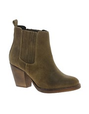 London Rebel Leather Panelled Heeled Chelsea Boot