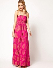 Denim & Supply By Ralph Lauren Printed Bandeau Maxi Dress