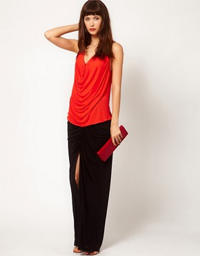 Image 1 ofDagmar Silk Mix Maxi Skirt with Gathered Detail