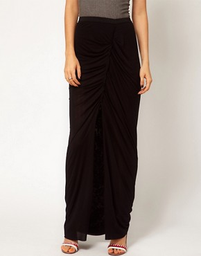 Image 4 ofDagmar Silk Mix Maxi Skirt with Gathered Detail
