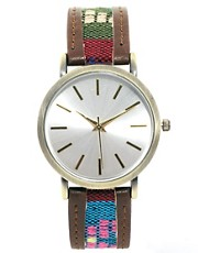 ASOS Watch with Fabric Inlay Strap