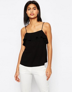 ASOS Ruffle Detail Cami Top in Crepe