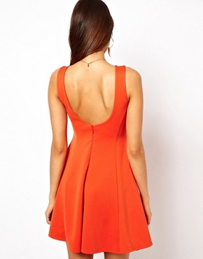 Image 2 ofASOS Structured Skater Dress