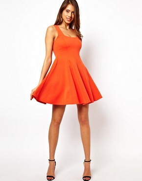 Image 4 ofASOS Structured Skater Dress