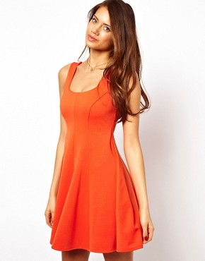 Image 1 ofASOS Structured Skater Dress