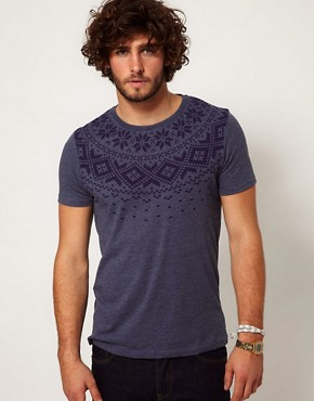 Image 1 ofASOS T-Shirt With Fairisle Print