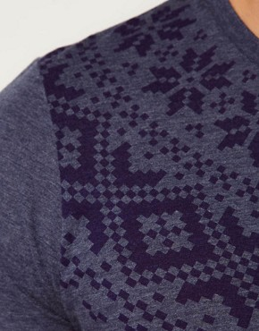 Image 3 ofASOS T-Shirt With Fairisle Print