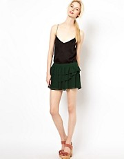 BA&amp;SH Layered Mini Skirt in Crepe