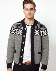 Jack &amp; Jones Fairisle Cardigan
