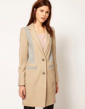 Image 1 ofWarehouse Contrast Tailored Coat