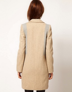 Image 2 ofWarehouse Contrast Tailored Coat