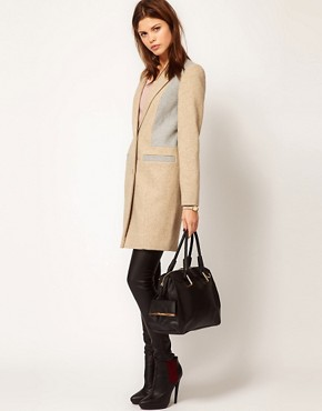 Image 4 ofWarehouse Contrast Tailored Coat