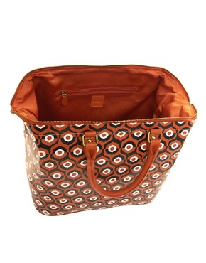 Image 2 ofASOS Leather Printed Bowler Bag