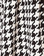 Image 3 of ASOS Full Skirt in Dogtooth Print