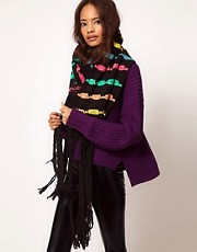 ASOS Ribbon Stripe Oversized Scarf