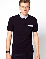 Fred Perry Polo with Seersucker Collar