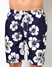 New Look Floral Print Board Shorts