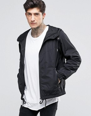 Diesel J-Azzerad Chevron Jacket Hooded Nylon