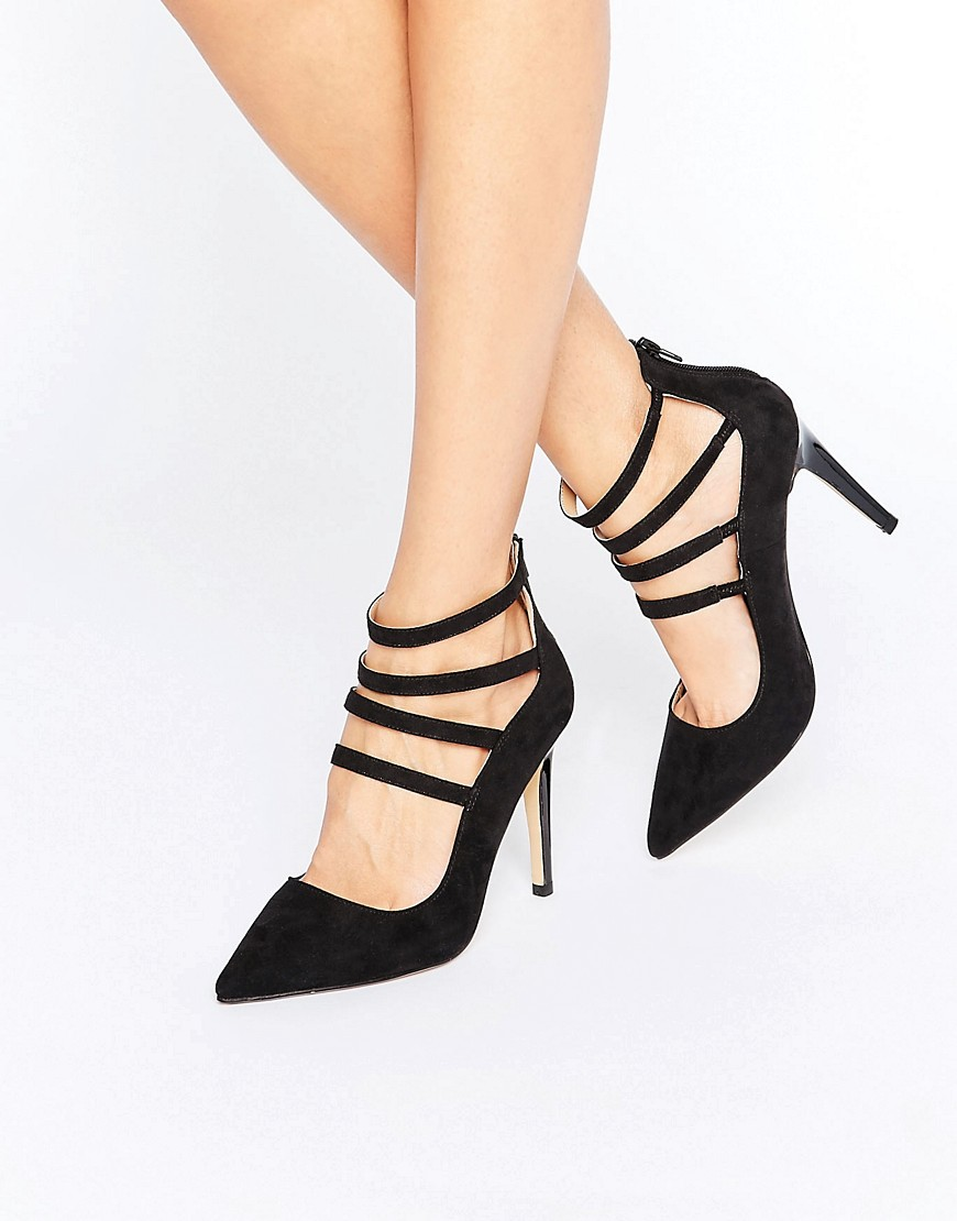 Head Over Heels By Dune Alora Strappy Heeled Shoes - Black