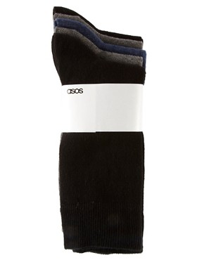 Image 3 of ASOS 5 Pack Socks