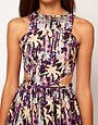 Image 3 ofRiver Island Bright Cut Out Dress With Necklace Detail
