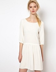 BA&amp;SH Low Back Dress with Frill Skirt in Crepe