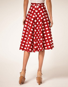 Image 2 ofASOS Check Full Midi Skirt