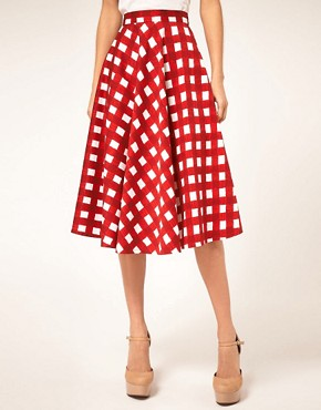 Image 4 ofASOS Check Full Midi Skirt