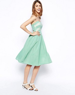 ASOS Lace Bandeau Prom Dress