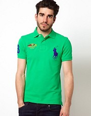 Polo Ralph Lauren Slim Polo with Large Polo Player - Online Exclusive