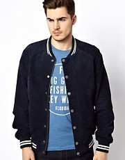 Jack &amp; Jones Suede Baseball Jacket