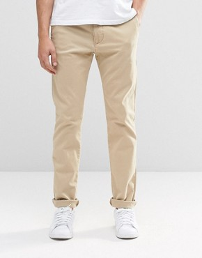 Hollister Chino In Skinny Fit In Beige