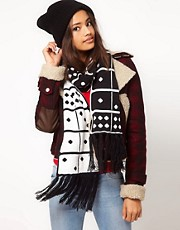 ASOS Domino Fringe Scarf