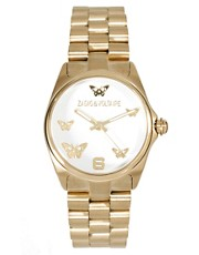 Zadig &amp; Voltaire Gold Butterfly Bracelet Watch